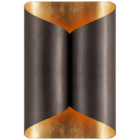 Selfoss Sconce in Bronze with Gild Interior
