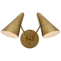 Clemente Double Sconce in Hand-Rubbed Antique Brass