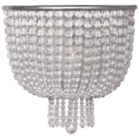 Jacqueline Medium Sconce in Burnished Silver Leaf with Clear Glass