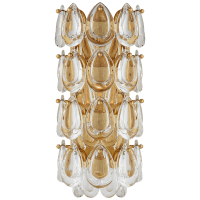 """Liscia 12"""" Sconce in Gild with Crystal"""