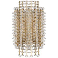 Serafina Small Tiered Sconce in Hand-Rubbed Antique Brass with Crystal