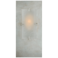 Dominica Rectangle Sconce in Burnished Silver Leaf and Alabaster
