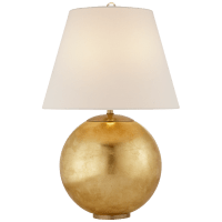 Morton Table Lamp in Gild with Linen Shade