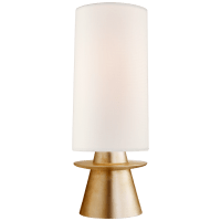 Livia Small Table Lamp in Gild with Linen Shade
