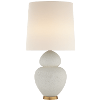 Michelena Table Lamp in Chalk White with Linen Shade