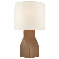 Claribel Large Table Lamp in Canyon Brown with Linen Shade