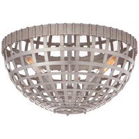 Mill Small Flush Mount in Burnished Silver Leaf