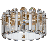 Bonnington Small Flush Mount in Hand-Rubbed Antique Brass with Crystal