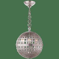 Mill Small Globe Lantern in Burnished Silver Leaf