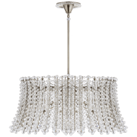 Serafina Large Drum Chandelier in Polished Nickel with Crystal