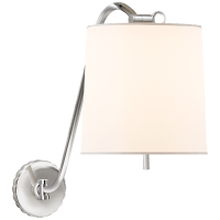 Understudy Sconce in Polished Nickel with Silk Shade