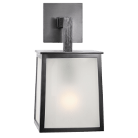 Ojai Small Sconce in Bronze with Frosted Glass