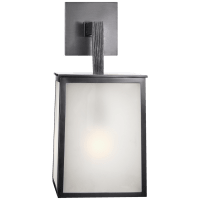 Ojai Large Sconce in Bronze with Frosted Glass