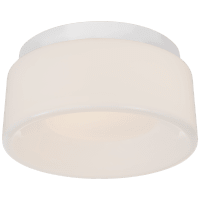 """Halo 5.5"""" Solitaire Flush Mount in Matte White with White Glass"""
