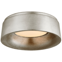 Halo Small Flush Mount in Burnished Silver Leaf
