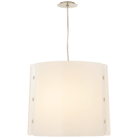 Dapper Medium Hanging Shade in Polished Nickel with White Acrylic Shade
