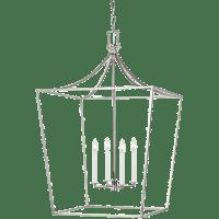 Southold Large Lantern Polished Nickel
