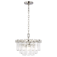 Arden Small Chandelier Polished Nickel