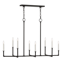 Bayview Linear Chandelier Aged Iron