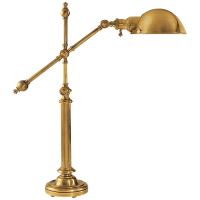Pimlico Table Lamp in Antique-Burnished Brass with Antique-Burnished Brass Shade