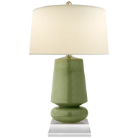 Parisienne Small Table Lamp in Shellish Kiwi with Natural Percale Shade