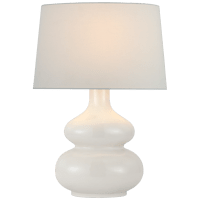 Lismore Medium Table Lamp in Ivory with Linen Shade