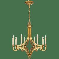 Mykonos Medium Chandelier in Antique-Burnished Brass