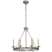 Launceton Small Ring Chandelier in Antique Nickel