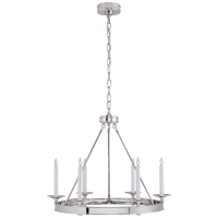 Launceton Small Ring Chandelier in Polished Nickel