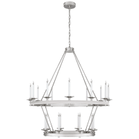 Launceton Large Two Tiered Chandelier in Polished Nickel
