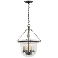 Country Medium Bell Jar Lantern in Bronze
