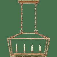 Darlana Small Linear Lantern in Gilded Iron
