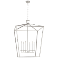 Darlana XXL Lantern in Polished Nickel