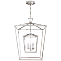 Darlana Large Double Cage Lantern in Polished Nickel