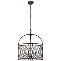 Marquise Wide Lantern in Aged Iron