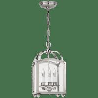 Arch Top Mini Lantern in Polished Nickel
