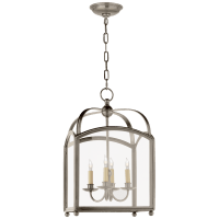 Arch Top Small Lantern in Antique Nickel