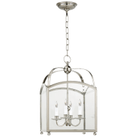 Arch Top Small Lantern in Polished Nickel
