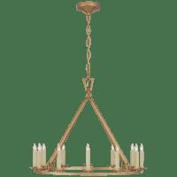 Darlana Medium Single Ring Chandelier in Antique-Burnished Brass