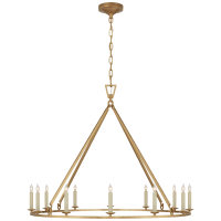 Darlana Large Single Ring Chandelier in Antique-Burnished Brass