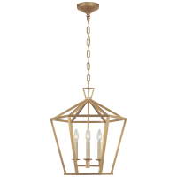 Darlana Medium Hexagonal Lantern in Antique-Burnished Brass