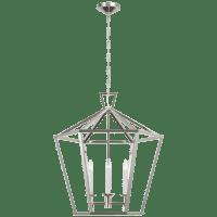 Darlana Large Hexagonal Lantern in Polished Nickel