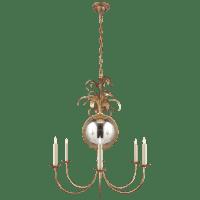 Gramercy Medium Chandelier in Gilded Iron