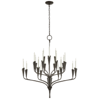 Aiden Large Chandelier in Aged Iron