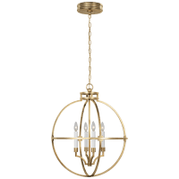 "Lexie 24"" Globe Lantern in Antique-Burnished Brass"