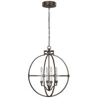"Lexie 24"" Globe Lantern in Bronze"