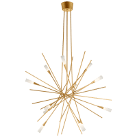 Stellar Large Chandelier in Gild with Frosted Acrylic