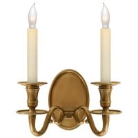 Grosvenor House Double Sconce in Antique-Burnished Brass