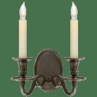 Grosvenor House Double Sconce in Bronze