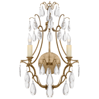 Penhurst Sconce in Gilded Iron with Clear Glass